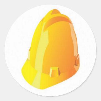 建築のヘルメットのデザイン 丸形シールステッカー