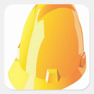 建築のヘルメットのデザイン 正方形シール・ステッカー