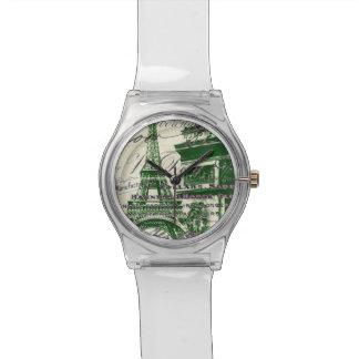 建築の勝利のゲートのパリエッフェル塔 腕時計