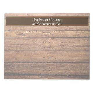 建築の木製の穀物のメモ帳 ノートパッド