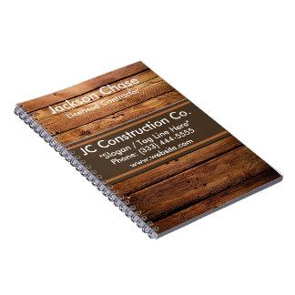 建築の木製の穀物の螺線形ノート ノートブック