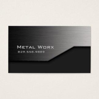 建築の金属の名刺の角度の端の灰色 名刺