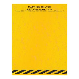建築の黄色および黒いレターヘッド レターヘッド