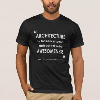 建築はAwesomenessです Tシャツ