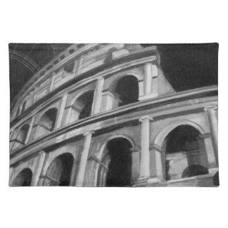 建築スケッチとのローマのColosseum ランチョンマット