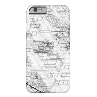 建築ワイヤーフレームのiPhone6ケース Barely There iPhone 6 ケース