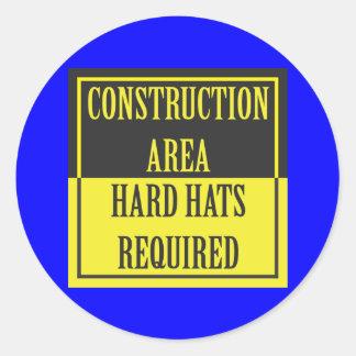 建築区域-必要なヘルメット 丸型シール