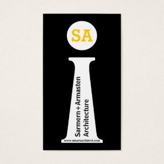 建築家のモダンで黒く、白く、黄色のモノグラム 名刺