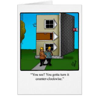 建築家のユーモアの挨拶状 カード