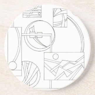 建築家の夢の3黒くおよび白いスケッチ コースター