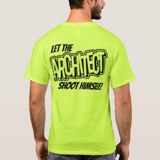 建築家を安全ワイシャツ彼自身を撃つことを許可して下さい Tシャツ