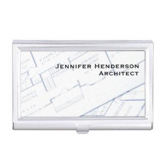 建築家、平面図 名刺入れ