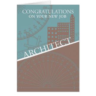 建築家-新しい仕事-建築家用具、カード カード