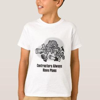 建築業者に計画が常にあります Tシャツ