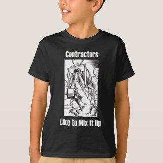 建築業者はそれを混合するのを好みます Tシャツ