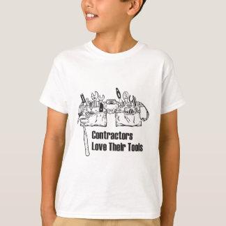 建築業者は彼らの用具を愛します Tシャツ