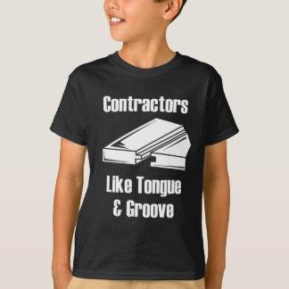 建築業者は舌を好みましたり及び溝を作ります Tシャツ