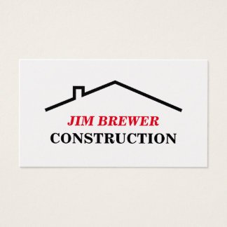 建築者のための建設業カードテンプレート 名刺