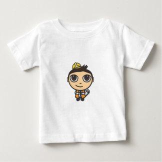 建築者のマンガのキャラクタの幼児のTシャツ ベビーTシャツ