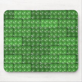 建築者の煉瓦-緑 マウスパッド