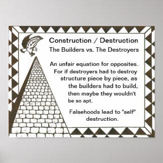 建築者対破壊者 ポスター