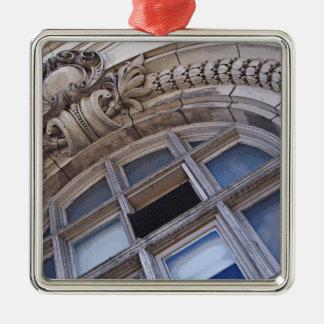 建築要素 シルバーカラー正方形オーナメント