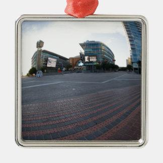 建築 シルバーカラー正方形オーナメント