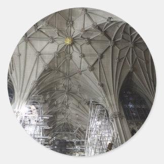 建設中の教会 ラウンドシール