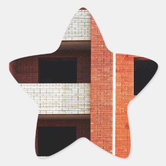 建設中の造ること 星形シールステッカー