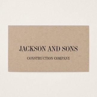 建設会社の最小主義の名刺 名刺