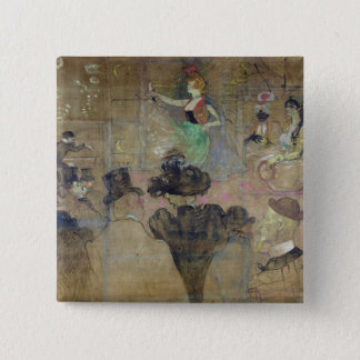 弁柄で踊ること: La Goulue 1895年 5.1cm 正方形バッジ