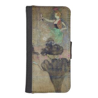 弁柄で踊ること: La Goulue 1895年 iPhoneSE/5/5sウォレットケース