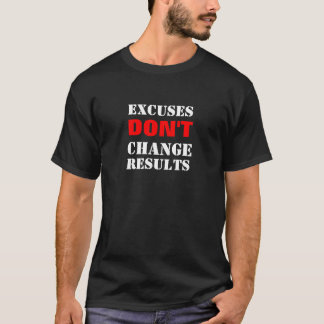 弁解は変えません結果(Blk)を Tシャツ