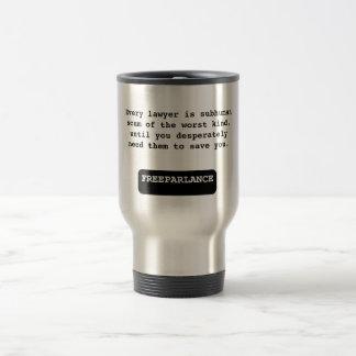 弁護士の反不利なコーヒー・マグ トラベルマグ