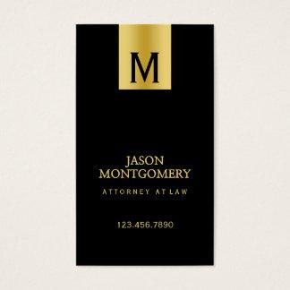 弁護士の名刺のデザインの黒および金ゴールド 名刺