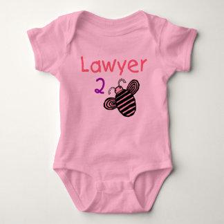 弁護士の女の子2の蜂 ベビーボディスーツ