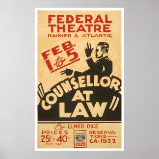 弁護士の戯曲1938 WPA ポスター