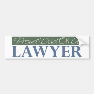 弁護士の誇り高いパパ バンパーステッカー