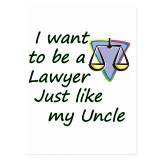 弁護士は叔父さんを好みます ポストカード