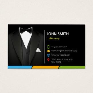 弁護士弁護士のコンサルタントのタキシードのビジネスマンのスーツ 名刺