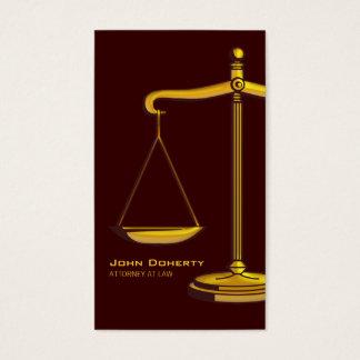 弁護士|ブラウン 名刺