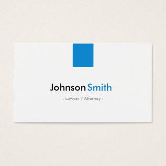 弁護士/弁護士-シンプルな水の青 名刺