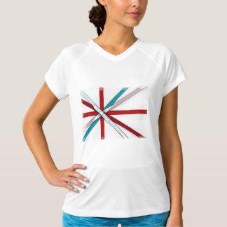 弓が付いている休日のリボンによるイギリスの旗 Tシャツ