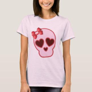 弓が付いているBatgirlのスカル Tシャツ