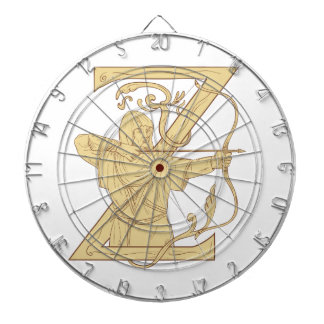 弓矢の手紙Zの引くことを向ける中世Archer ダーツボード