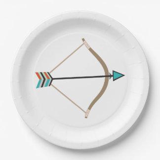 弓矢の紙皿 ペーパープレート