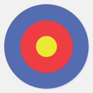 弓矢ターゲット-目標 ラウンドシール