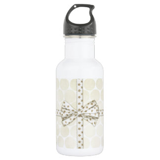 弓背景とのクリスマス ウォーターボトル
