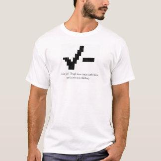 引いて点検して下さい Tシャツ