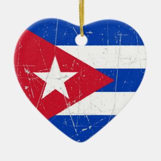 引きずられ、傷付けられたキューバの旗 セラミックオーナメント